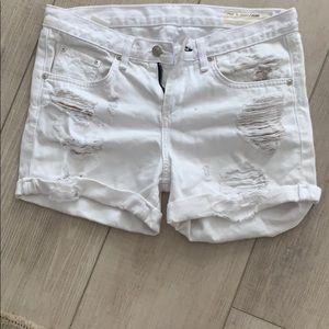 Rag & Bone white denim shorts. Size 26